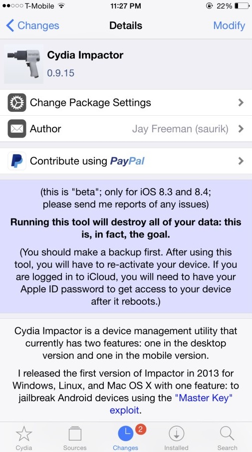 Unjailbreak and Remove Cydia Without Upgrading or Restoring Fresh iOS on Your Device with Cydia Impactor