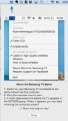 Wirelessly Mirror Mac Screen to Samsung Smart TV
