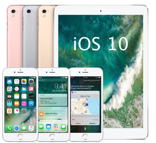 iOS 10 for iPhone, iPad and iPod Touch
