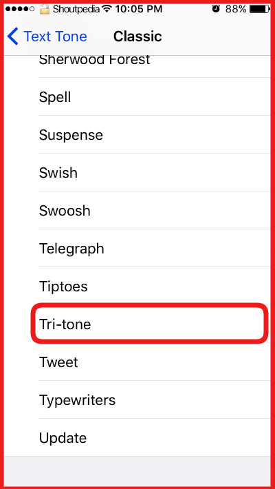Tir-Tone for all notifications