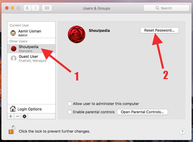 bypass password screen in macOS