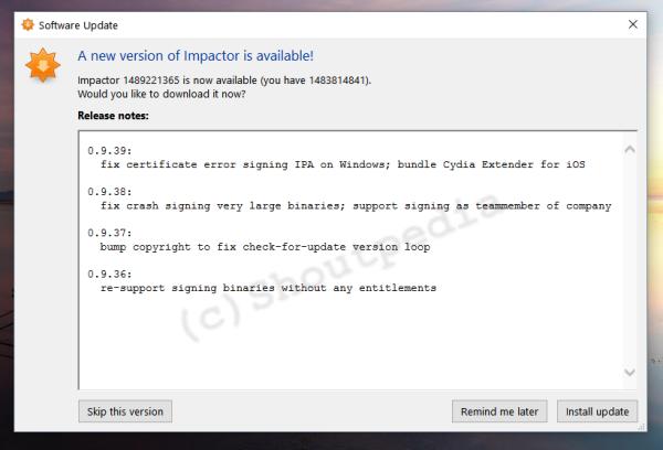 Cydia impactor changelog