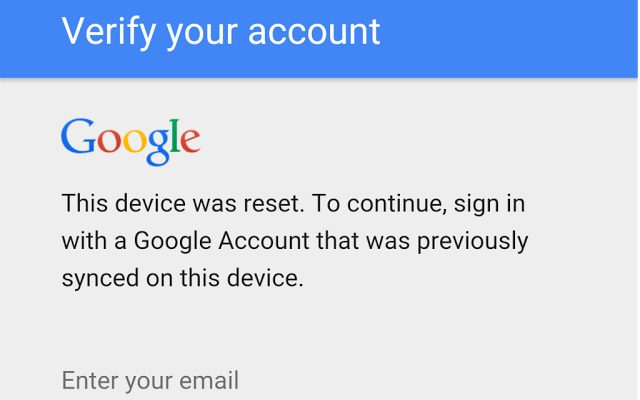 How to enter my own google account after reset samsung phone