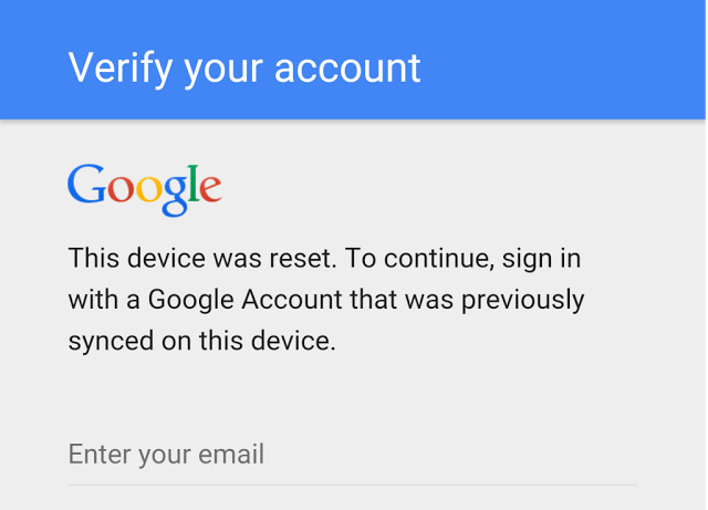 how to use own google account after samsung phone reset