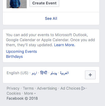 how to import upcoming events from facebook to iPhone calendar