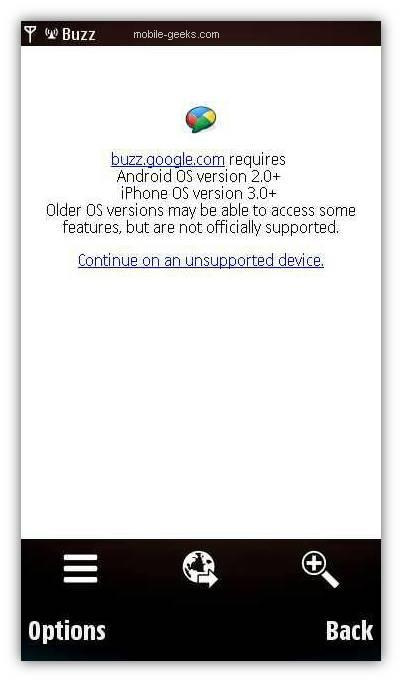google buzz for n97