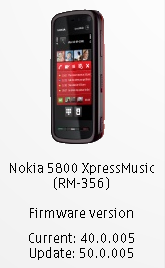 Firmware V500005 For Nokia 5800 Xpressmusic Unofficial Changelog