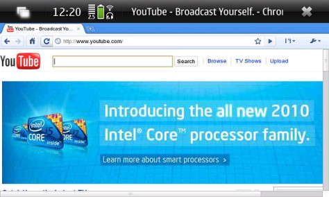 Guide and Video: Google Chrome on Nokia N900