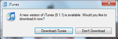 ancienne version itunes 9.1