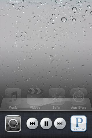 what is lock icon in status bar of iOS 4