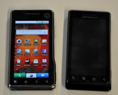 Photos Comparison: Motorola Milestone / Droid vs Milestone XT 720