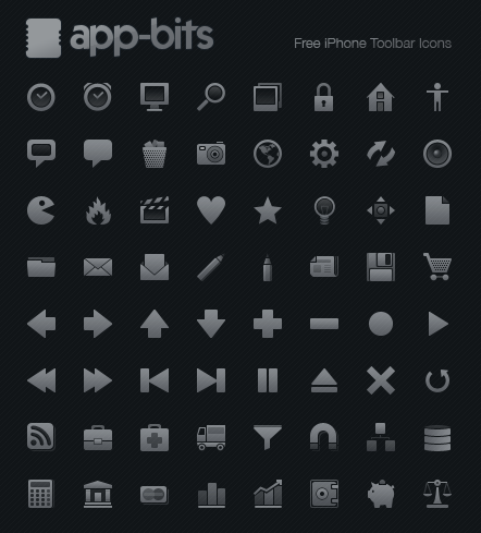 iphone toolbar icons free download