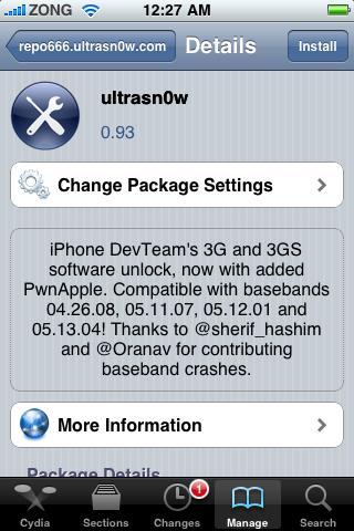 unlocking with ultrasn0w-0.93