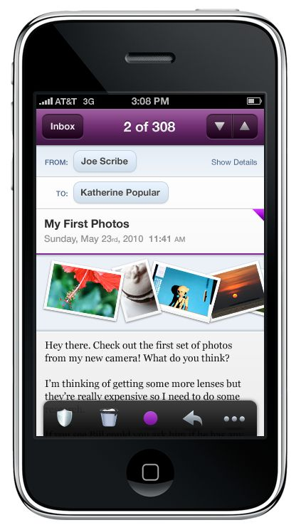 Yahoo Introduces HTML5 Based Yahoo! Mail Web App for iPhone/iPod
