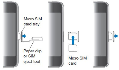 insert sim in iphone 4
