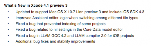 Xcode Release Notes