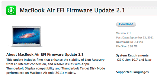 EFI Firmware Update