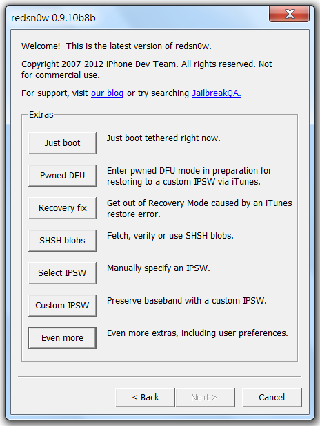 Redsn0w jailbreak tool guide for iphone, ipad, ipod touch.