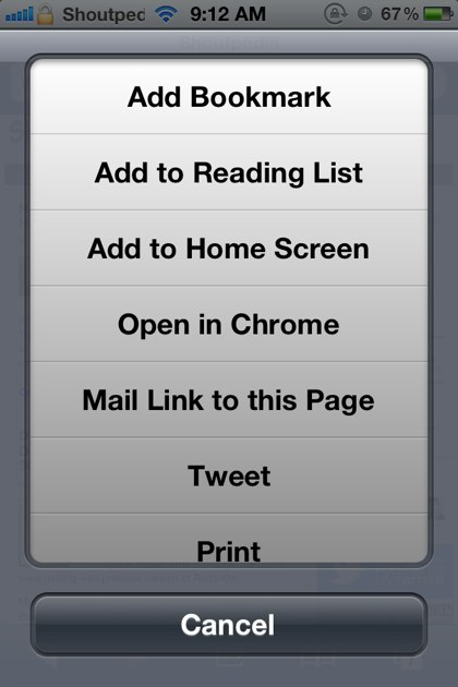 Open in Chrome
