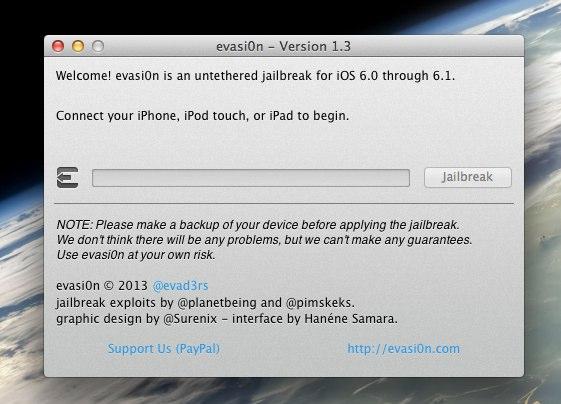 evasi0n - Version 1.3