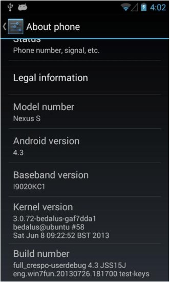 [ROM] Android 4.3 (JSS15J) on Nexus S