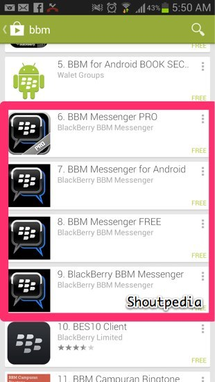 BBM for android-1