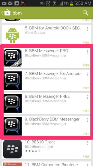 BlackBerry Pulled BBM for iPhone Due to Leaked Android Version
