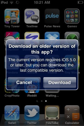 download-older apps