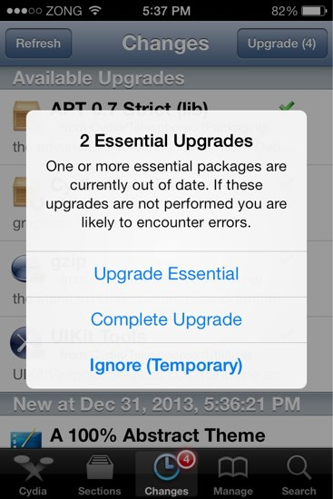 Official Cydia iOS 7 upgrades