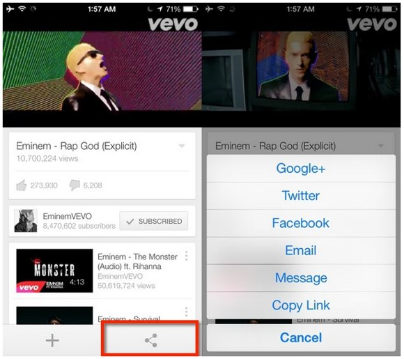 Play YouTube iOS audio