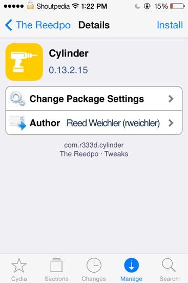 Cylinder cydia tweak