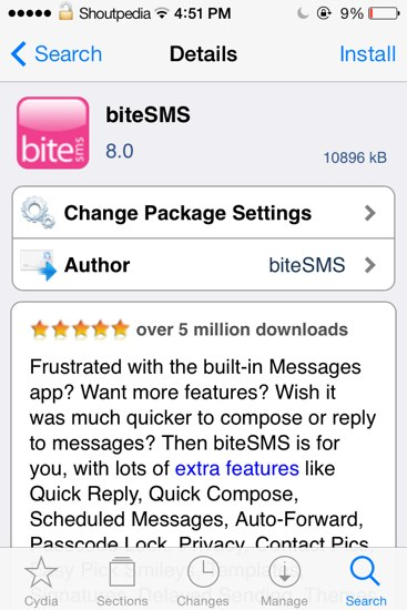 download bitesms 8.0 iOS7