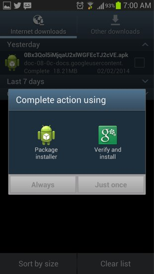 verify and install facebook app