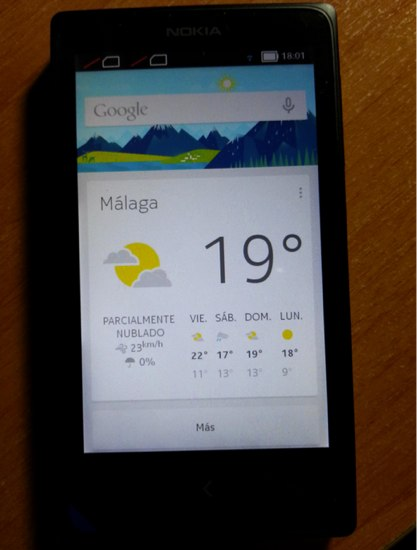 Google Now on Nokia X