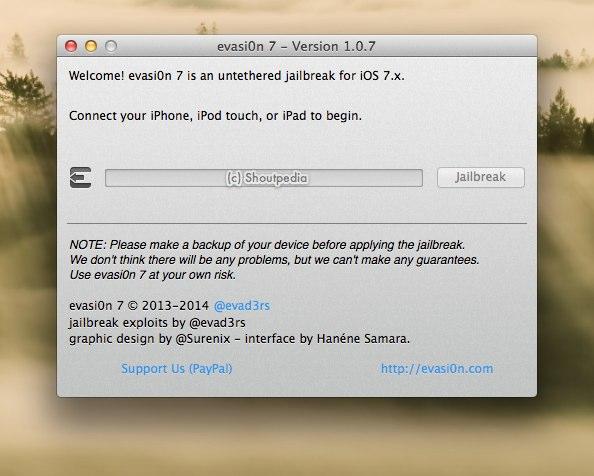 evasi0n 7 - Version 1.0.7-1
