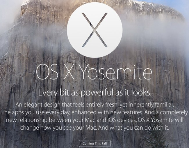 Apple - OS X Yosemite - Overview