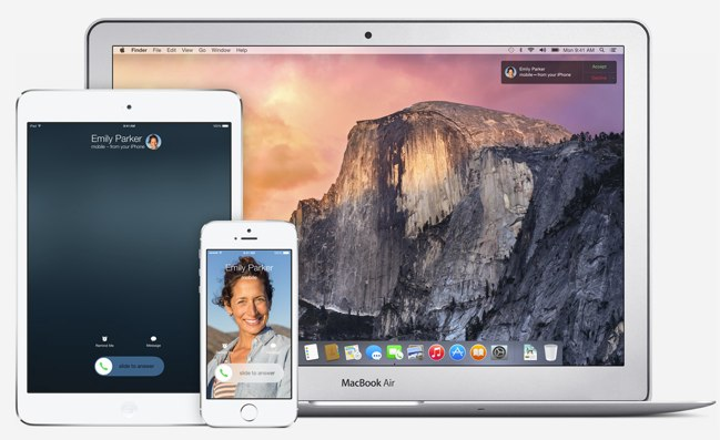 yosemite calls sms iphone ipad-1