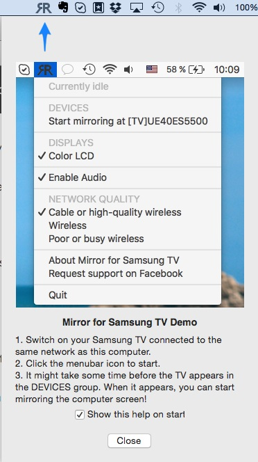 Wirelessly Mirror Mac Screen to Samsung Smart TV