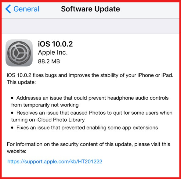 Download iOS 10.0.2 for Compatible iPhone, iPad and iPod Touch Models