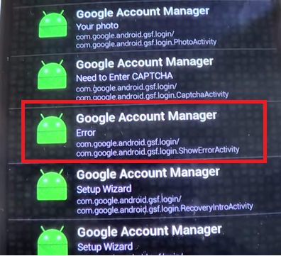 android tablet google account sign-in failure
