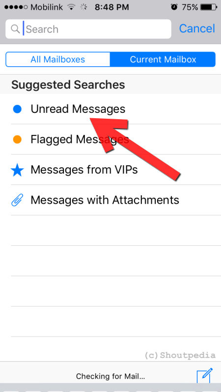 My iPhone says I have unread emails but I don't. There are None.