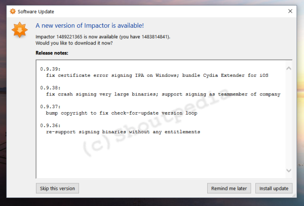impactor 0.9.14 for root