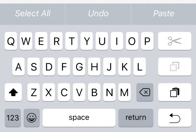 One-Handed iPhone Keyboard