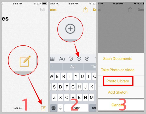 how to set password for album in iPhone photos