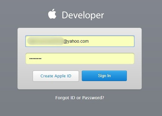 log-into-apple-developer-program