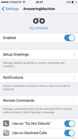 how to set up answer machine on iPhone