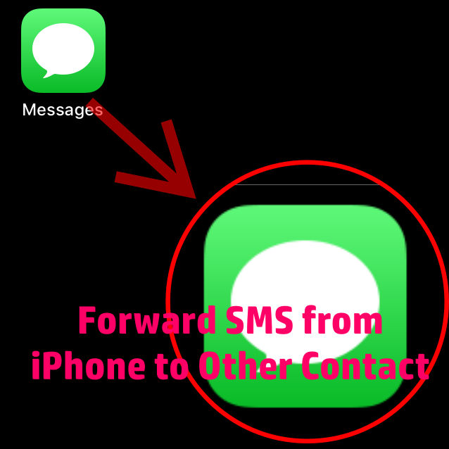 how to forward sms from iPhone to any other contact number