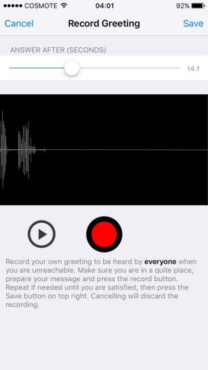 How to Record Own Greetings for Callers on iPhone Answering Machine App