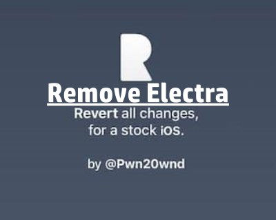 How to remove Electra with Rollectra without Restore
