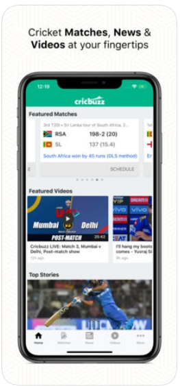 Cicbuzz cricket iphone app